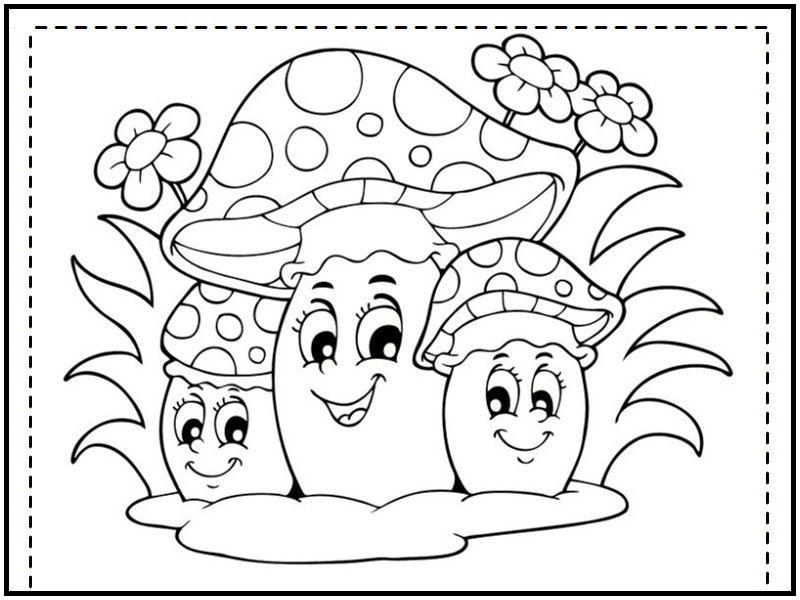 Vrolijke paddenstoelen ...   kabouters   Pinterest   Zeichnungen