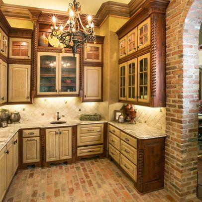 Mediterranean Kitchen Red Door Design Ideas Pictures Remodel And