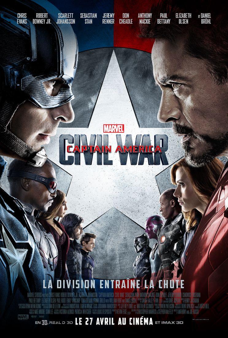 Concours : Captain America: Civil War – 5 T-shirts et 9×2 places à gagner