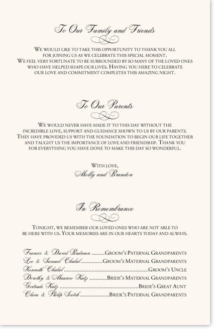 Template 03 Me She Barach Wedding Programs Wording Program Thank You Invite Quotes
