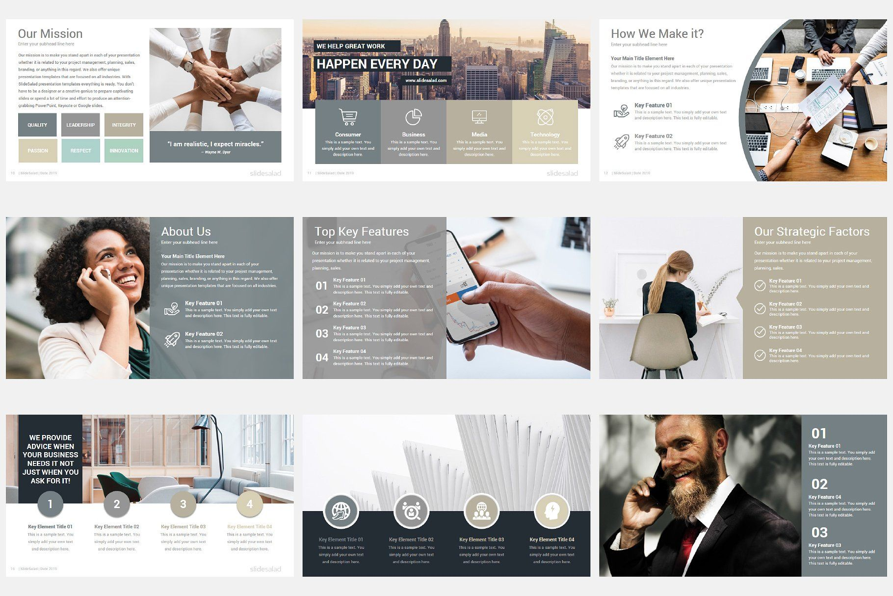 Modern Company Profile Powerpoint Icon Photography Web Design Icon Company Profile