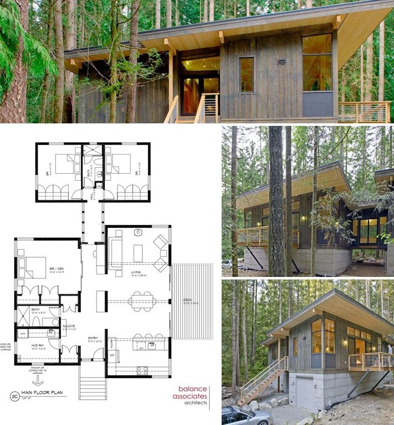 Contemporary cottage on pinterest 3d house plans condo for Modern cottage house plans