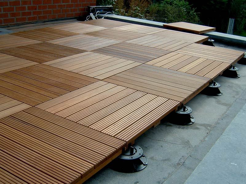 Ipe Decking Tiles For Elevated Decks And Rooftop