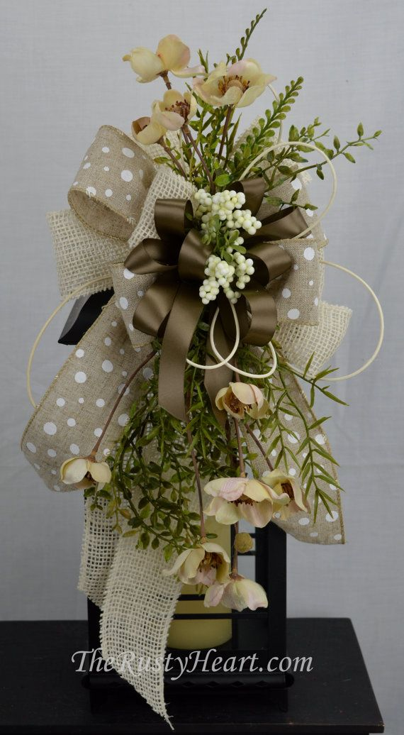 Everyday lantern swag with burlap ribbon the rusty heart