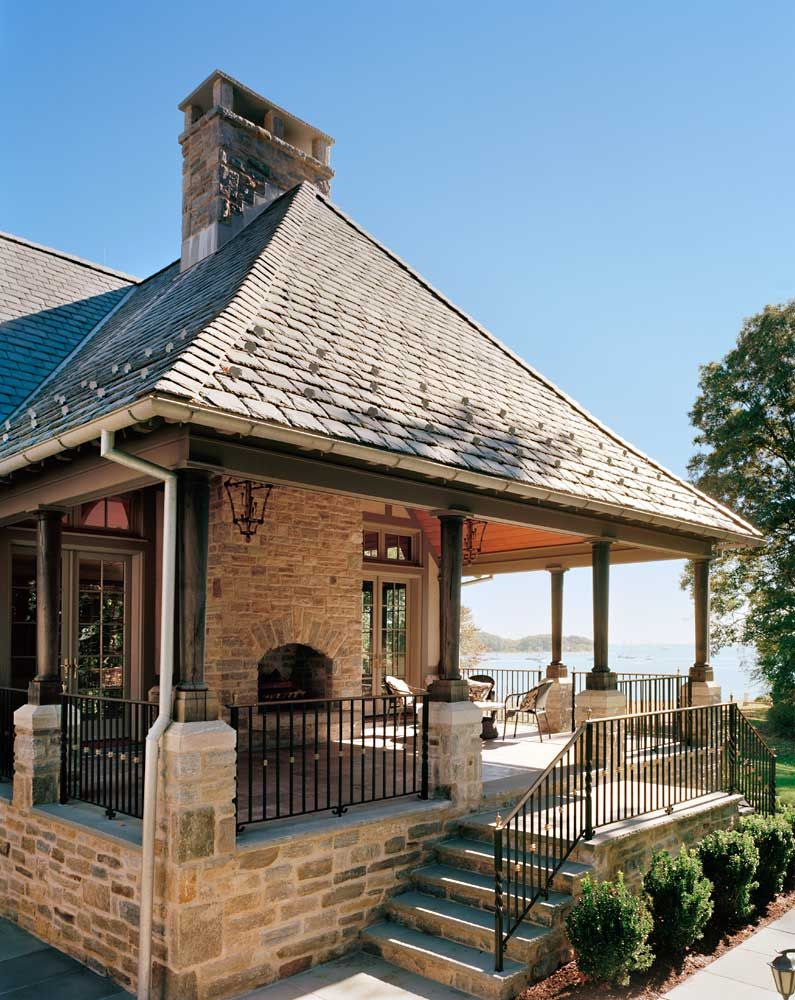 Douglas Vanderhorn Architects Waterfront French Normandy Style Outdoor Entertaining Traditional Exterior Exterior Design House Exterior