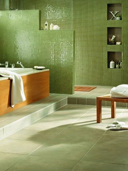 Perfect Green Bathroom With Modern And Cool Design Ideas