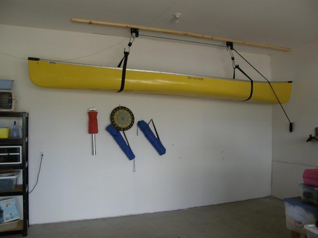 Nice Kayak Hoist Garage Garage Organization Kayak Storage
