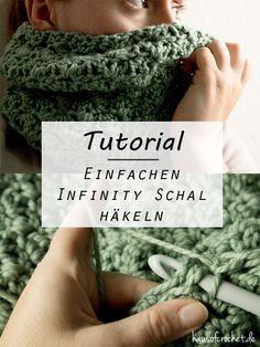 Tutorial: Einfachen Infinity Schal häkeln #ponchoscrochet
