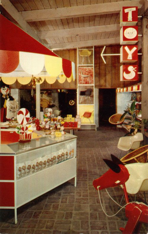 Wow, What Nice Memories ... Toy Shop   Eames Furniture   Vintage Postcard  The Nut Tree, Vacaville   California 70s