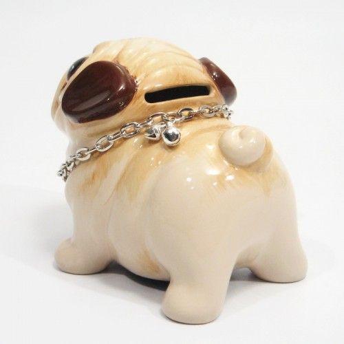 Crafts For Dog Lovers: Pug Ceramic Dog Lover Gifts Decor Art Handmade Coin Money