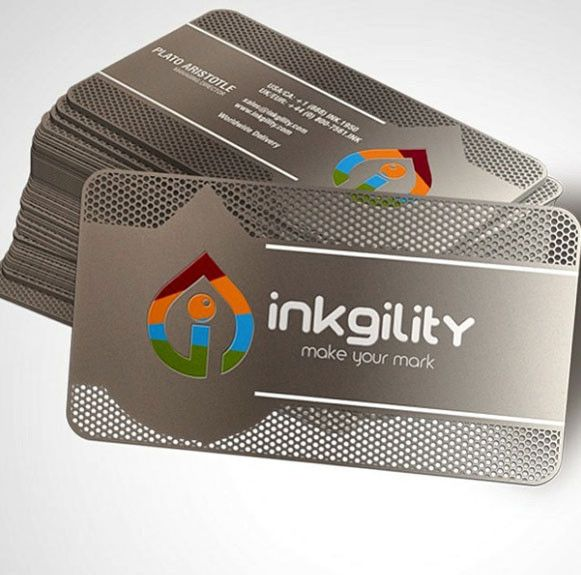 Luxury stainless steel metal business cards pinteres luxury stainless steel metal business cardscolor printing endless customizations are possible with our luxury metal cards with color printing reheart Choice Image