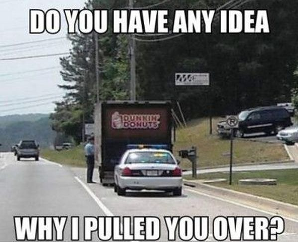 7ed3f6e7d06e5f305f12133fdb99c45f we'd pull you over for the same thing donut funny doughnuts,Cops And Donuts Meme