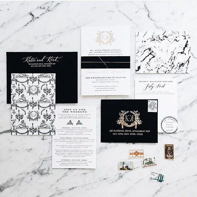 I'm so smitten with this suite we created for an upcoming wedding at the Boston Public Library. Black and white is always a home run! Photo by the couple's amazing planner @laurenswells by swisscottagedesigns
