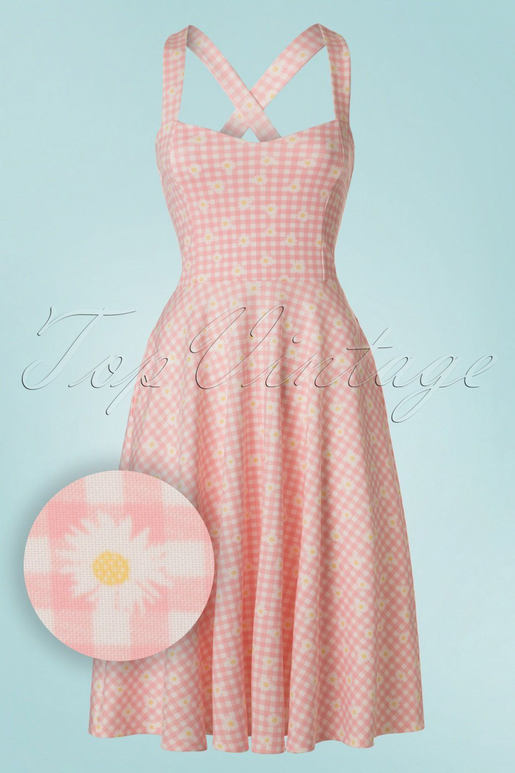 50s Judith Checked Swing Dress In Pink And White Vintage Inspired Fashion Vintage Retro Clothing Vintage Fashion