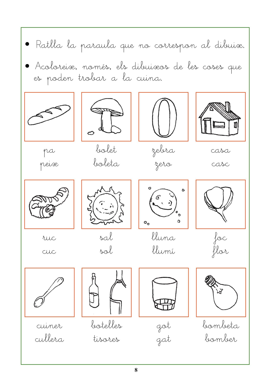 Fitxes Per Treballar La Conscincia Fonolgica Llengua Language