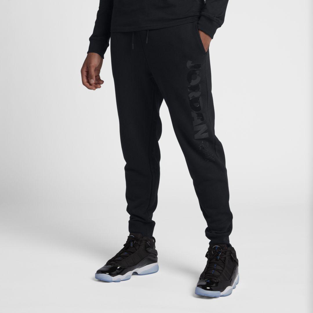 26b7431e8e09d4 Jordan Sportswear Legacy AJ 11 Men s Fleece Pants Size L (Black ...