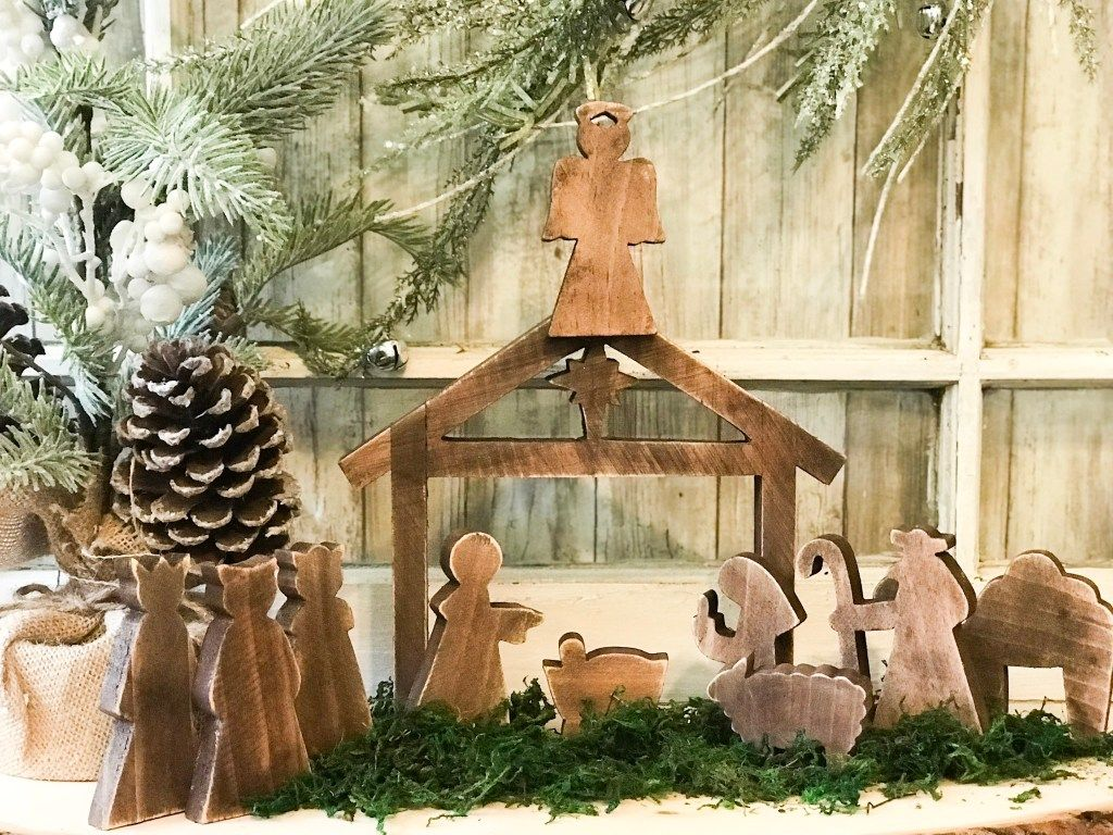 diy wooden nativity scene makeover Diy nativity