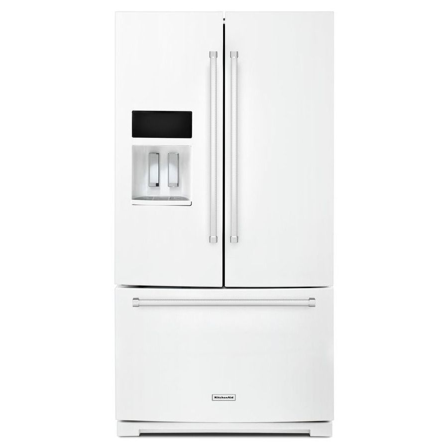 Kitchenaid 26.8-Cu Ft 3-Door French Door Refrigerator Single Ice ...