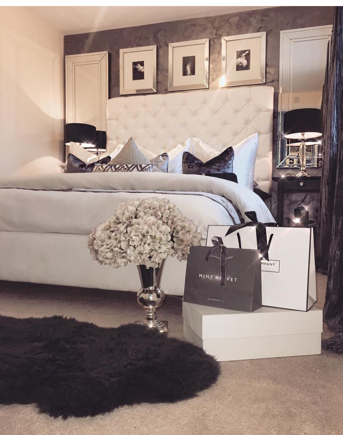 Pin By Yellowrose On Home So Sweet Luxurious Bedrooms Master Bedrooms Decor Luxury Bedroom Design