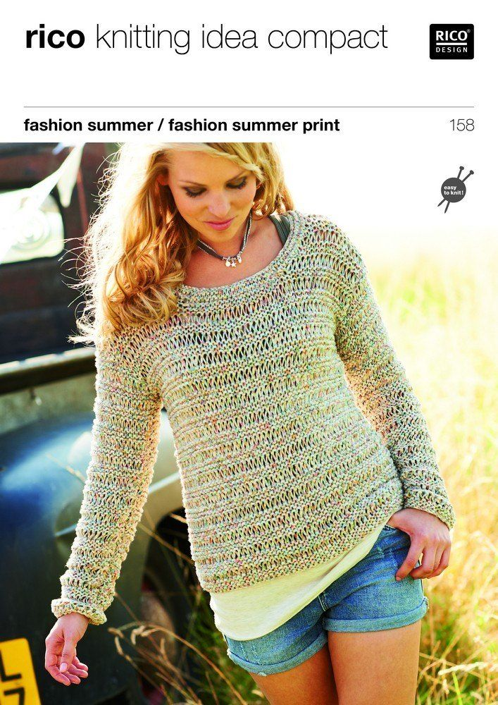 Sweater And Top In Rico Fashion Summer And Fashion Summer Print 158 In 2020 Rico Design Kleidung Pullover