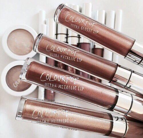 pinterest: @lilyosm | colourpop cosmetics makeup eyeshadow pigments metallic liquid lipsticks