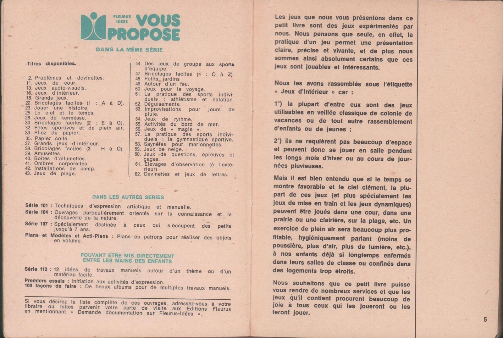 Bonaventure, Jeux d'intérieur (1967) en 2020 Jeux