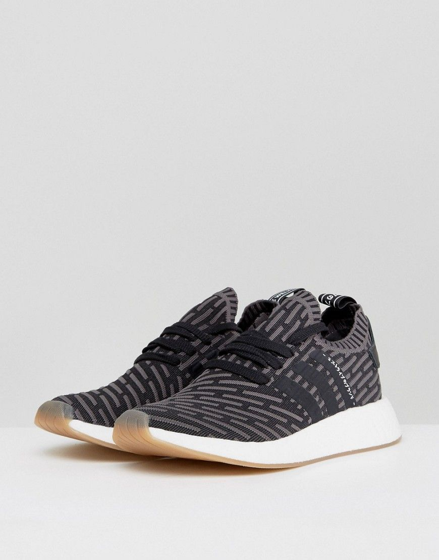 adidas Originals NMD R2 Primeknit Sneakers In Black BY9696