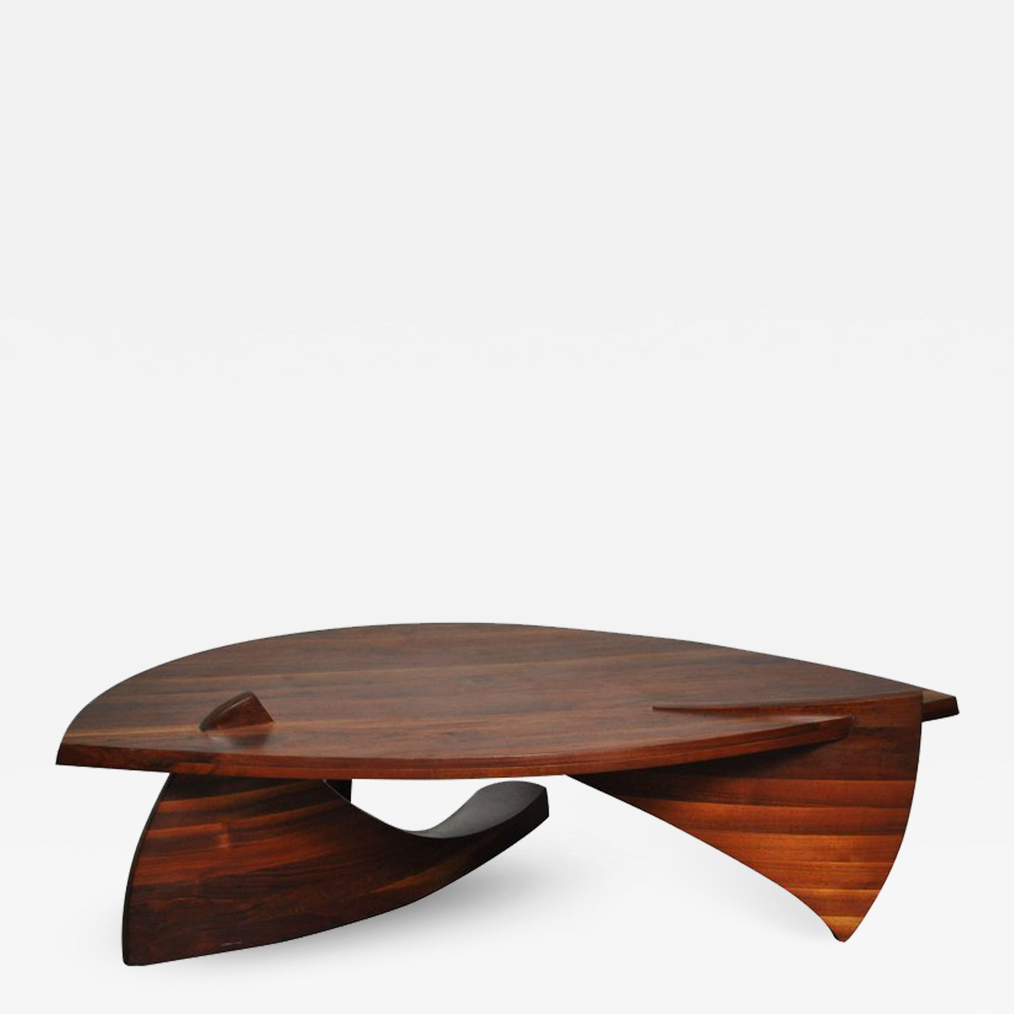 Sculptural Stacked Walnut Coffee Table By H Wayne Raab Coffee Table Walnut Coffee Table Table [ 2000 x 2000 Pixel ]