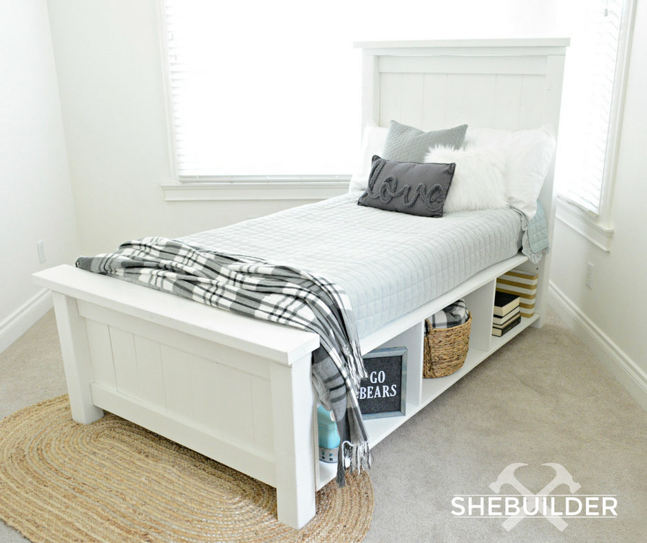 Best Ana White Traditional Farmhouse Bed With Storage Diy 400 x 300