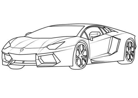 Lamborghini Coloring Page Auto Zeichnen Superauto Zeichnungen Von Autos