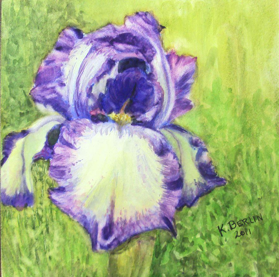 Bettys iris painting by katherine berlin iris artwork pinterest bettys iris painting by katherine berlin izmirmasajfo