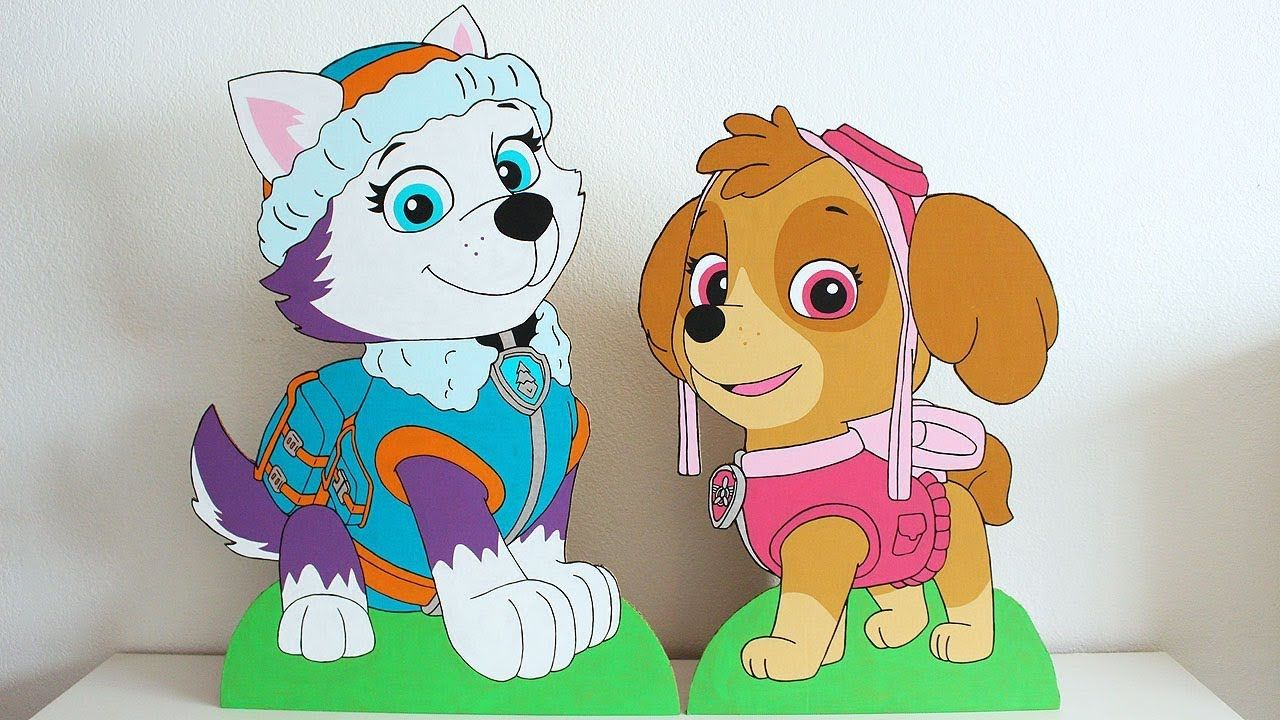 Paw Patrol Skye and Everest Cardboard Cutouts (With images ...