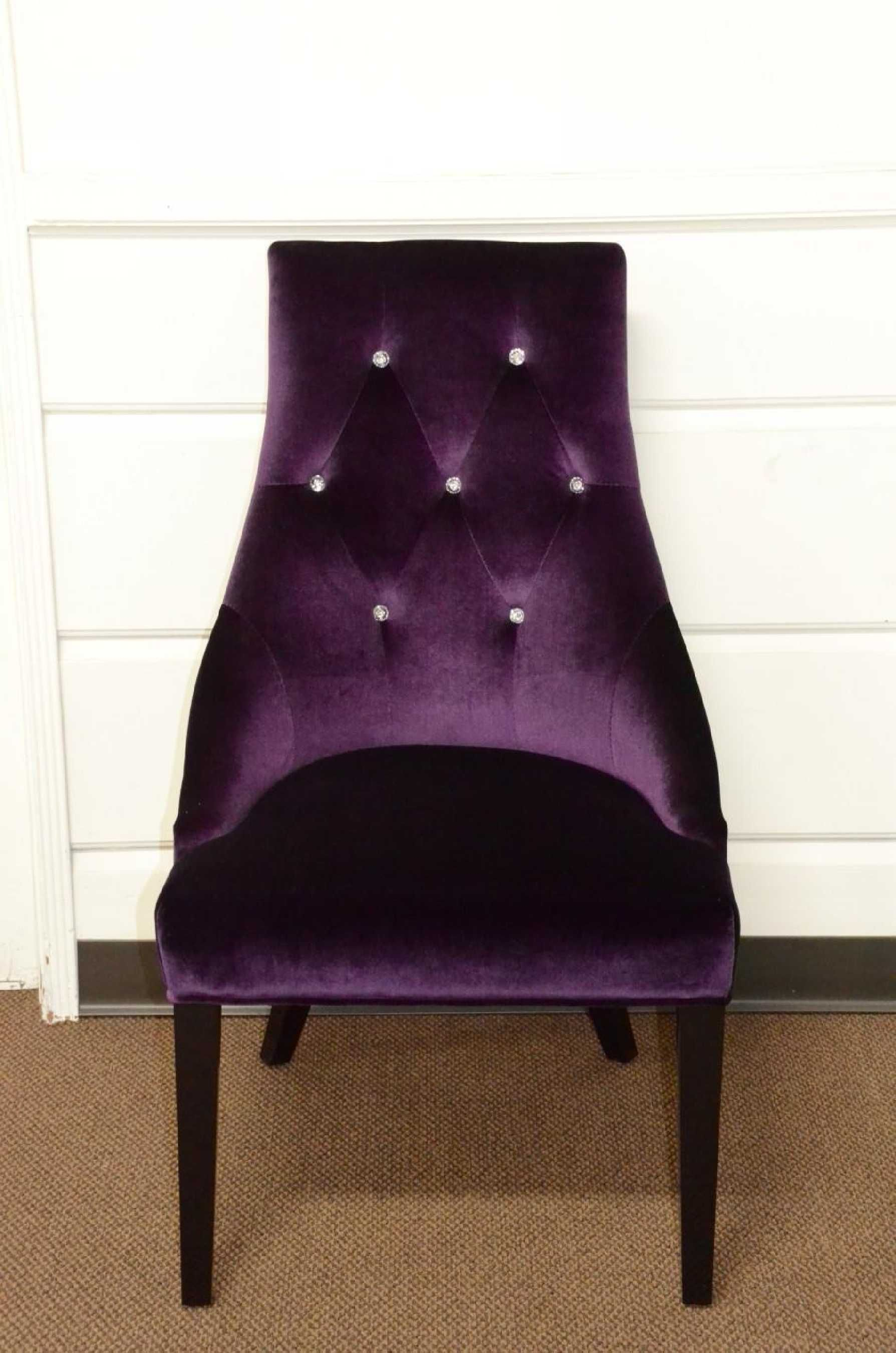 Purple Upholstered Dining Chairs Bed Pillow Chair With Arms Vig Furniture Armani Xavira Velour
