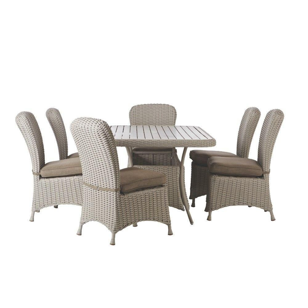 Martha Stewart Living Lake Adela Bone 7-Piece Patio Dining ... on Martha Stewart 6 Piece Patio Set id=33505