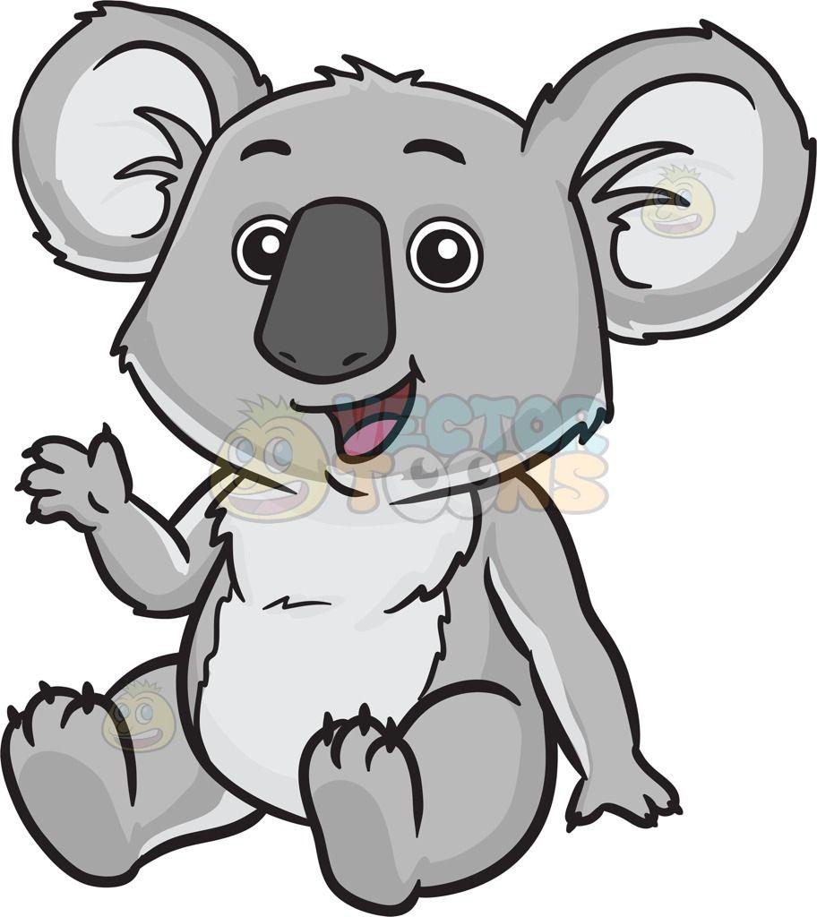 A Happy Cute Koala Bear Koala Drawing Cartoon Koala Cute Koala Bear