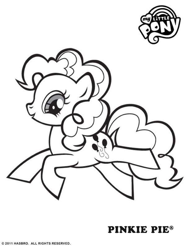 Free Online My Little Pony Pinkie Pie Colouring Page