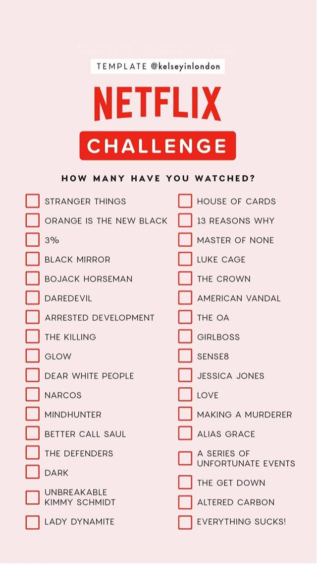 Liste Netflix Serien