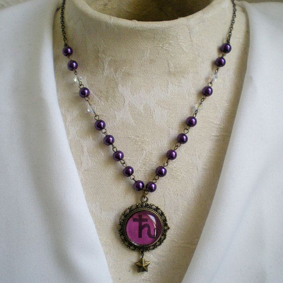 Sailor Moon Saturn Scout Necklace by PetiteRoyale on Etsy