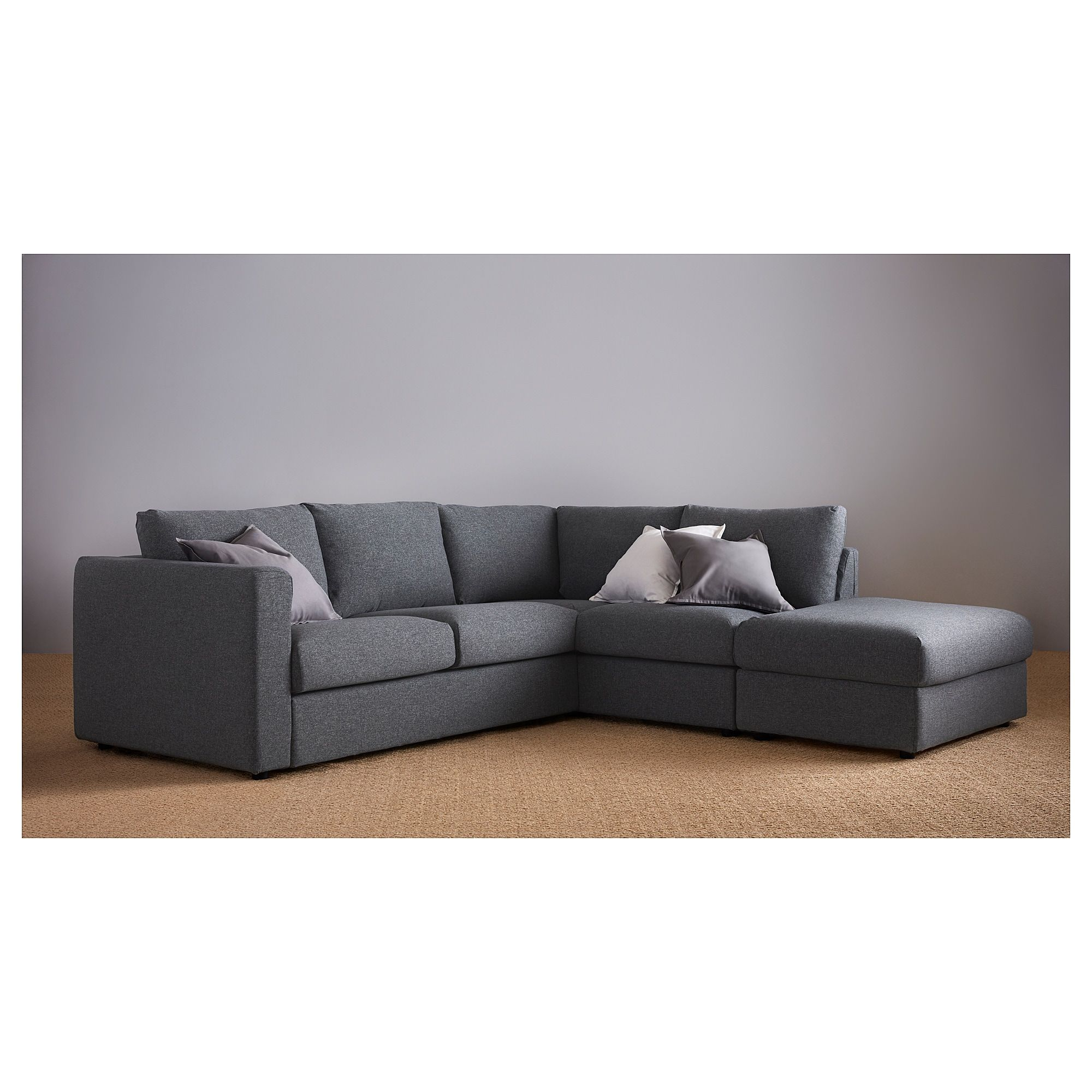 VIMLE Corner sofabed w/storage - with open end, Gunnared ...