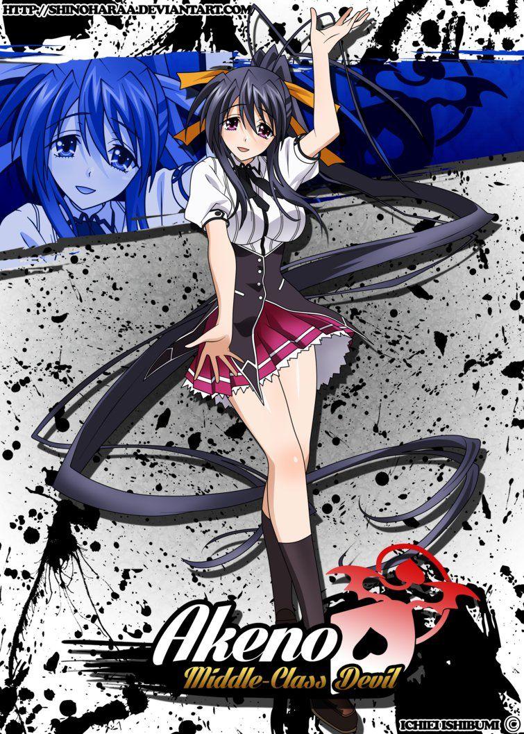 This Was A Commission For Mevan83 Moka Akashiya Is From Rosario Vampire Moka Akashiya Inner Moka Or Ura Moka Is Moka Anime High School Dxd Highschool Dxd