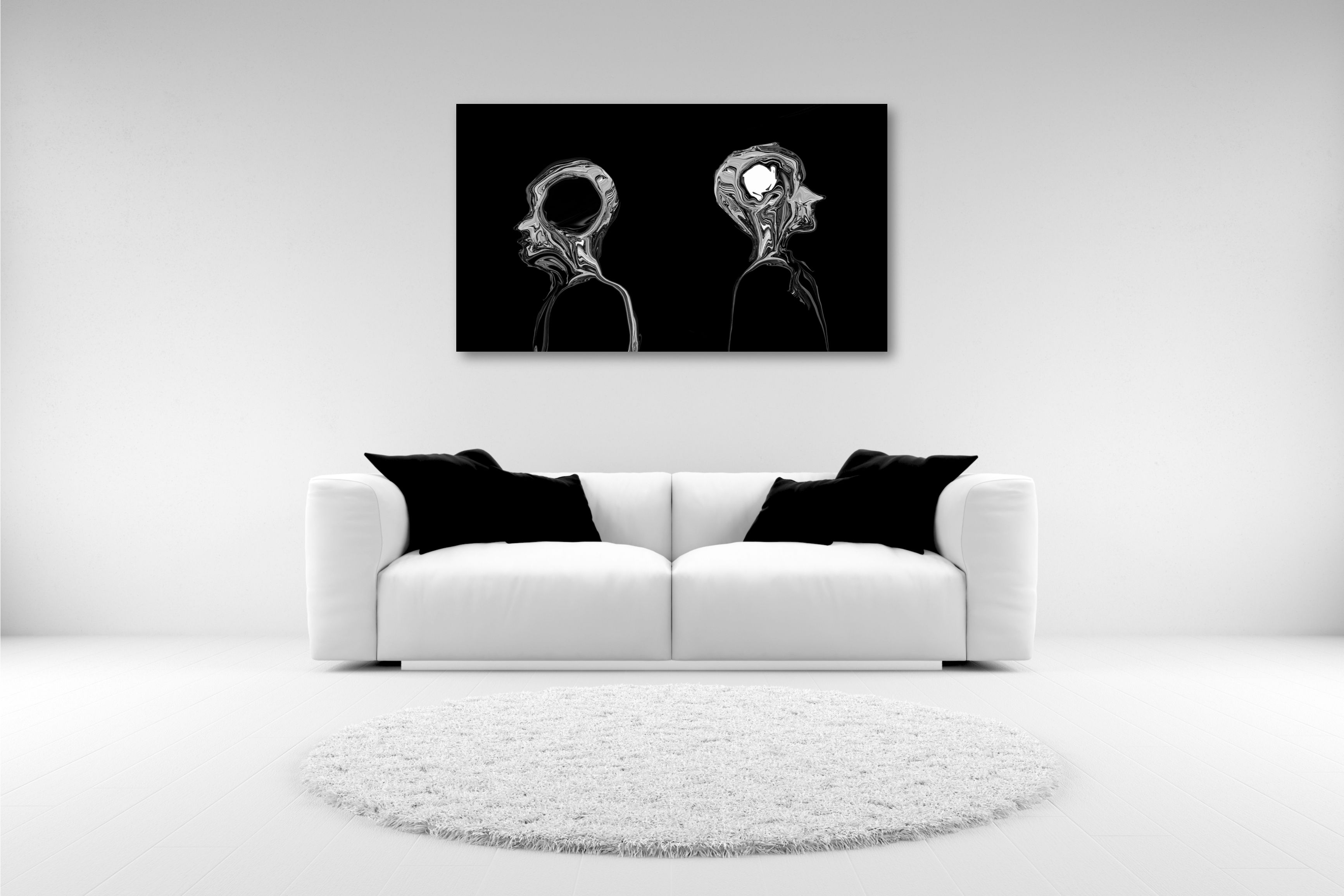 One Of A Series Of Modern Black And White Contemporary