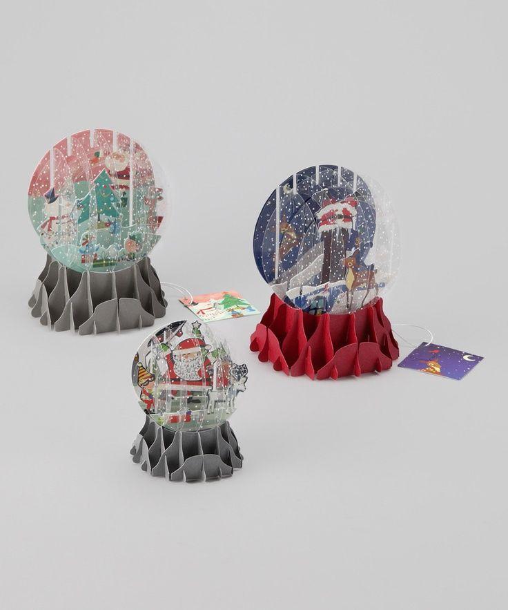 Snow Globe Card Template Snow Globe Pop Up Card Set Navidad