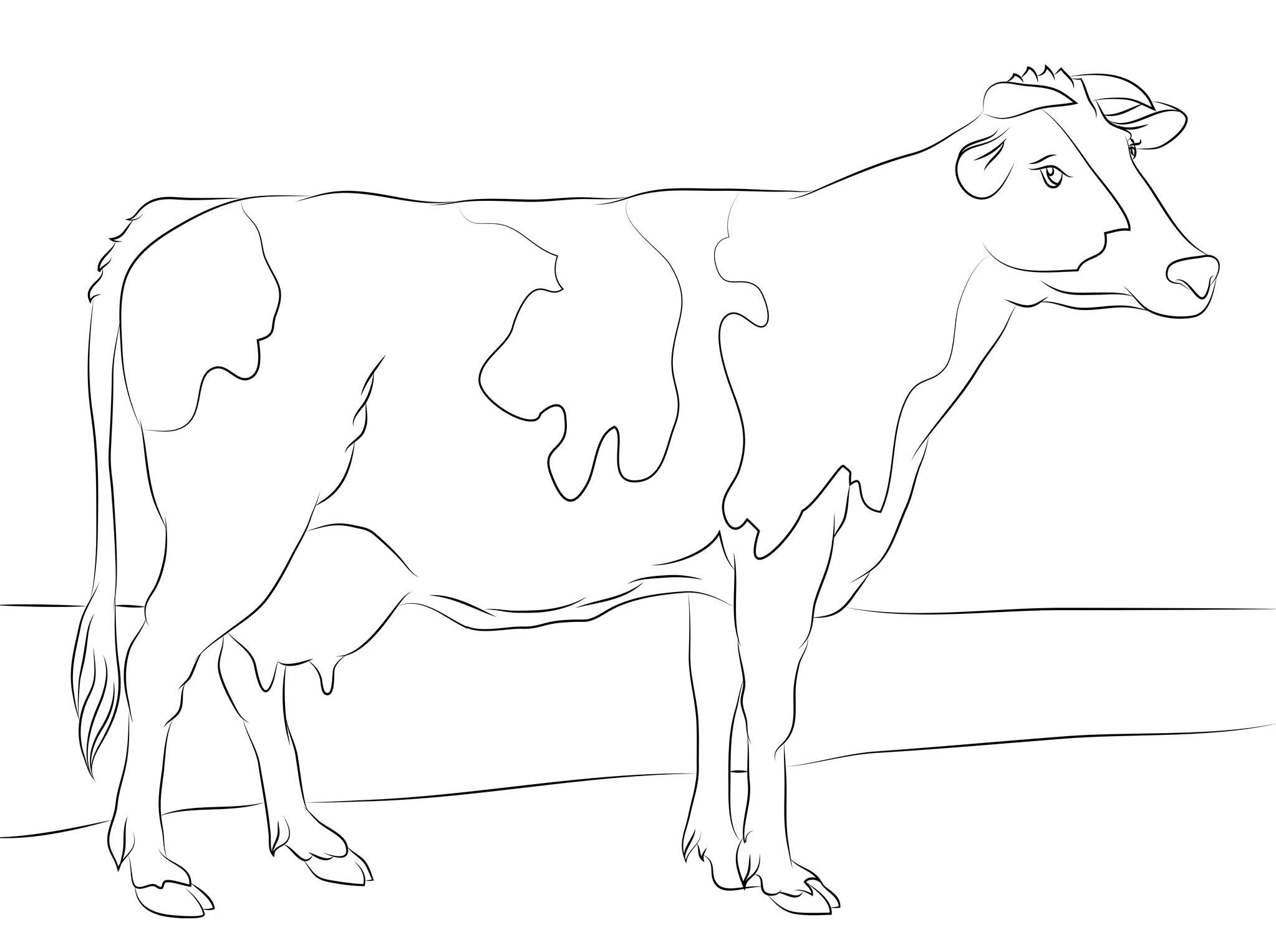 Pin By Shreya Thakur On Free Coloring Pages Cow Coloring Koe Koeien Kleurplaten