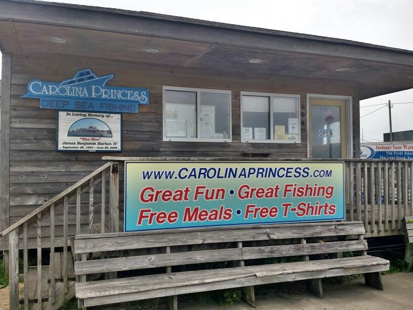 Home of the Carolina princess charter fishing and headboat operations. They offer charter fishing from the waterfront in Morehead City NC by the half day and day. One of the largest offshore fishing charters in the town.