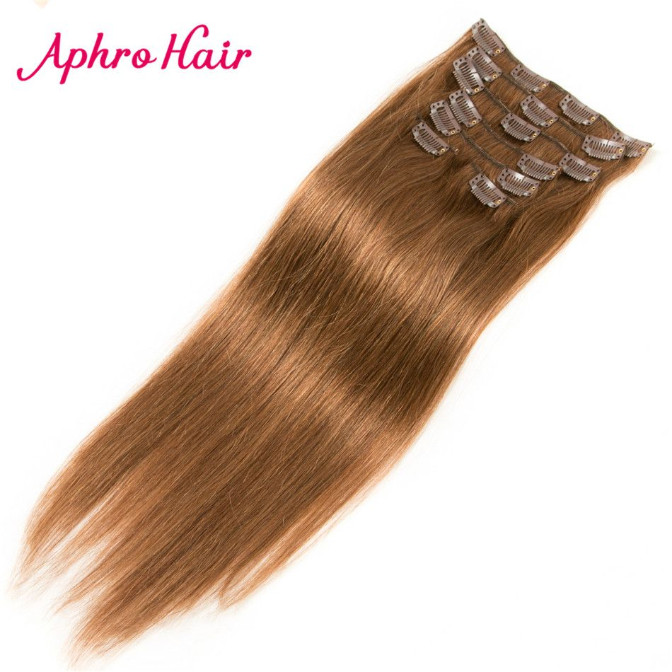 Free shipping buy best aphro hair clip in hair extensions pcsset