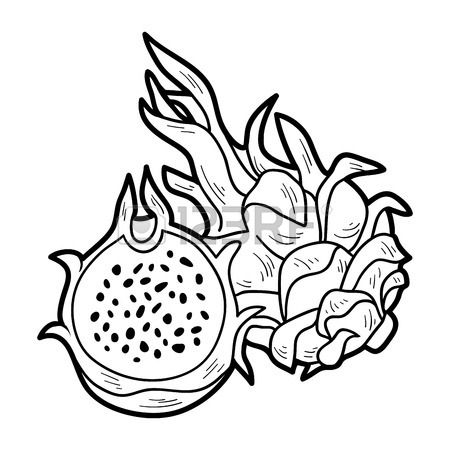 Pin By Razeeh On For Kids Coloring Books Dragon Pictures Fruit Coloring Pages