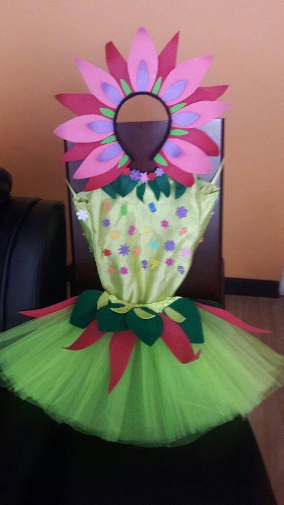 Traje De Flor Para Niña Con Foami Disfraces Para Niños Tutú Para Niños Manualidades