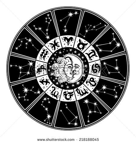 the horoscope circle with zodiac signs and constellations of the zodiac inside the symbol of the. Black Bedroom Furniture Sets. Home Design Ideas