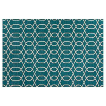 Check out this item at One Kings Lane!  Tanya Flat-Weave Rug, Blue/Ivory