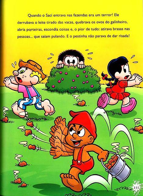 Educacao Infantil Historia Do Saci Com A Turma Da Monica A